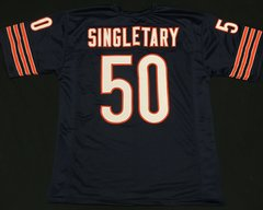 Mike Singletary Replica Home Chicago Bears XL Jersey