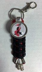 Harley Quinn Handmade (Black) Keychain