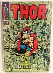 The Mighty Thor #154 1968 Comic (VG+)