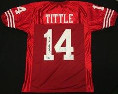 Y.A. Tittle 49er's Autographed Jersey HOF '71 AAA COA