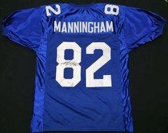 Mario Manningham Giants Autographed Jersey AAA/JSA COA