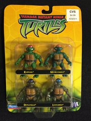 Teenage Mutant Ninja MINI Turtles 4 pack (Raphael, Michelangelo, Donatello, Leonardo) (2002)