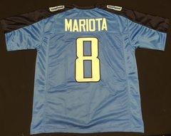 Marcus Mariota Replica Home Titans Custom Stitched XL Jersey