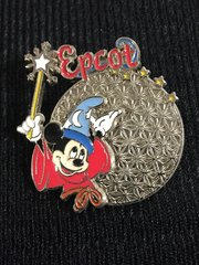 Sorcerer Mickey Mouse Wand Walt Disney Spaceship Earth Epcot Pin