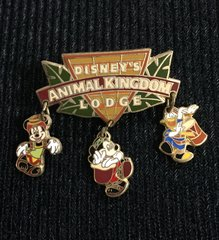 Walt Disney World Animal Kingdom Lodge with Minnie, Mickey and Donald Dangles