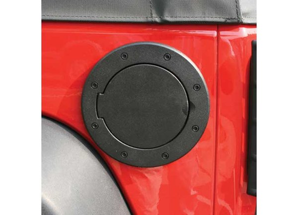 RUGGED RIDGE FUEL COVER BLACK ALUMINUM JK WRANGLER 07-C 11425.05