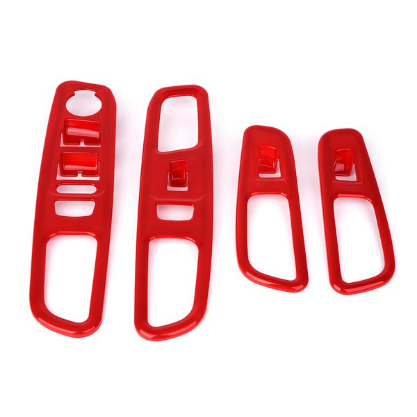 Red Door Switch Panel Trim for 2015-2017 Jeep Renegade