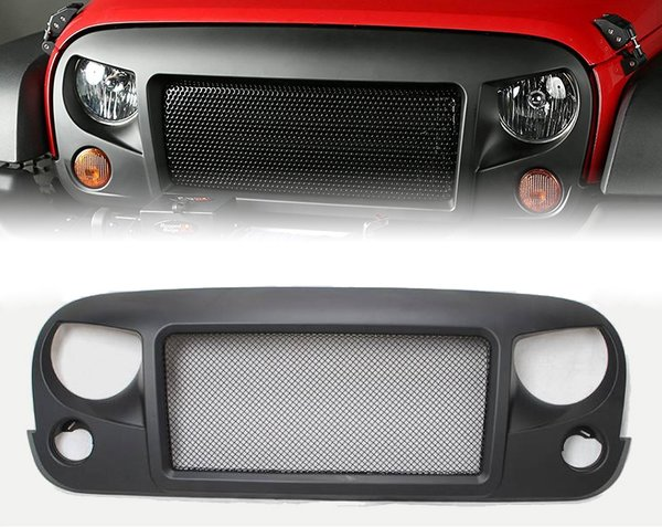 Spartan Grille with Steel Mesh for 2007-2017 Jeep Wrangler JK