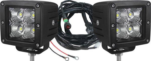 UBLights LED, Work Lamp, pod light kit with windshield mounts