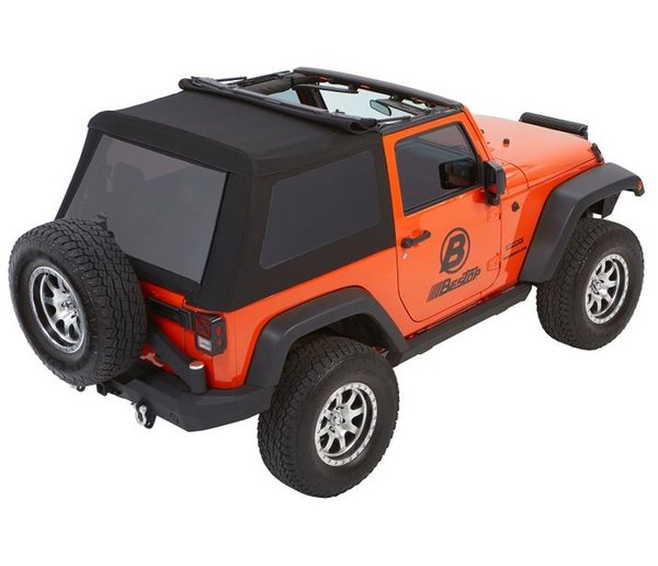 Bestop TREKTOP™ NX GLIDE™ CONVERTIBLE SOFT TOP 2-door Jeep Wrangler 5492235/5492217