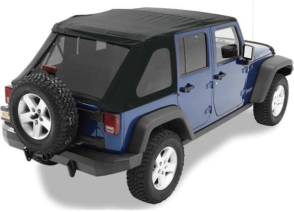 BESTOP SOFT TOP TINTED 07-16 WRANGLER UNLIMITED (NO DOORS INCL) TINTED WINDOWS SOFT TOP-BLACK DIAMOND 56823-35
