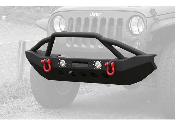 ProMaxx 07-17 WRANGLER FRONT BUMPER W/LIGHT BLACK TEXTURED POWDER COATED