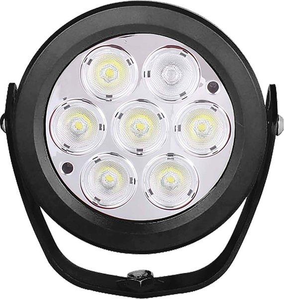 "UBLights LED, Work Lamp, Round, 6"", 7 x 10 W Diodes, 7,000 Lumens, 10V - 30V, Flood Beam"