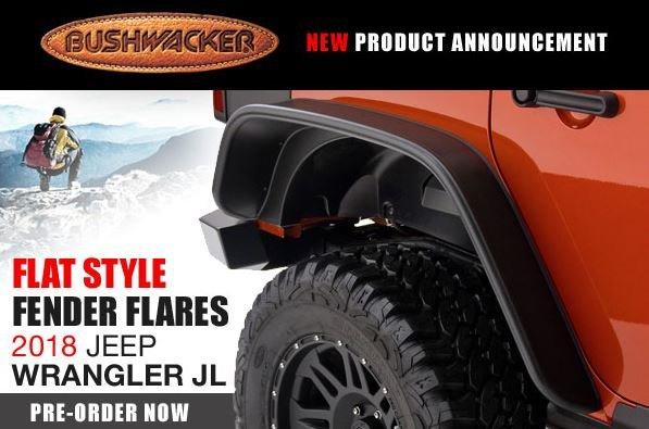 Bushwacker 18-C WRANGLER JL UNLIMITED FLAT STYLE 4PC FENDER FLARE
