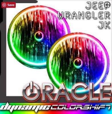 2007-2017 Jeep Wrangler Pre-Assembled Headlights - Dynamic ColorSHIFT