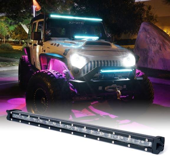 "Aquatic Series Light Bar with Blue Backlight 22"" Double Row"