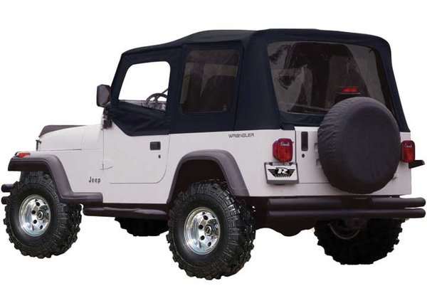 RAMPAGE SOFT TOP 97-06 WRANGLER TINTED WINDOWS BLACK  99515