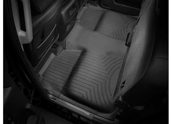 WEATHER TECH 14-16 SILVERADO/SIERRA 1500/15-16 2500/3500 CREW CAB FULL COVERAGE UNDER REAR SEAT FLOORLINER BLACK