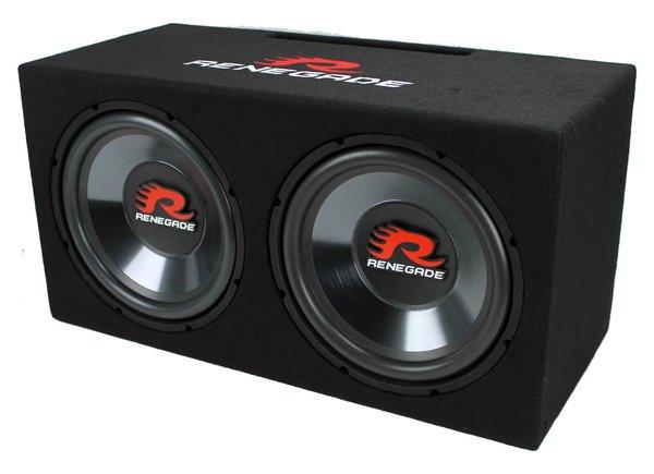 "Renegade RXV1202 1200W Dual 12"" Subwoofer Enclosure RXV1202"
