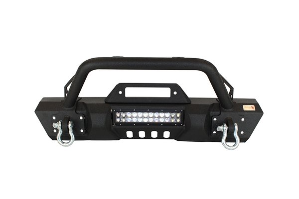 Fishbone offroad Front Stubby Winch Bumper with Tube Guard