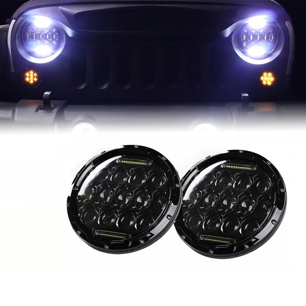 """Xprite 7"""" 75W CREE LED Headlights With DRL For 1997-2017 Jeep Wrangler"""