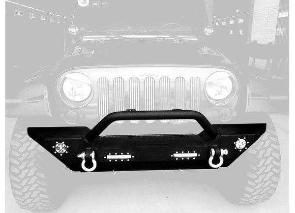 Promaxx 2007-2017 WRANGLER FRONT BUMPER W/LIGHT BLACK TEXTURED POWDER COATED