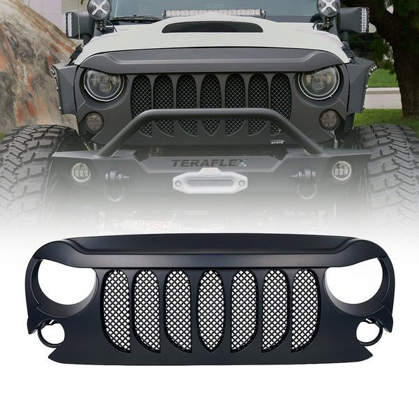 Beast Grille with Built-In Mesh for 2007-2017 Jeep Wrangler JK
