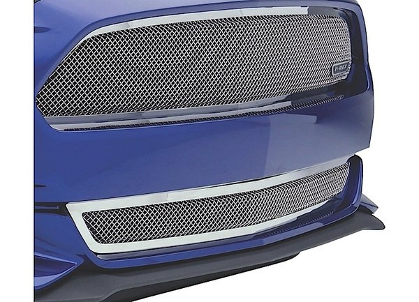 T-REX GRILLE OVERLAY STAINLESS 15-C MUSTANG