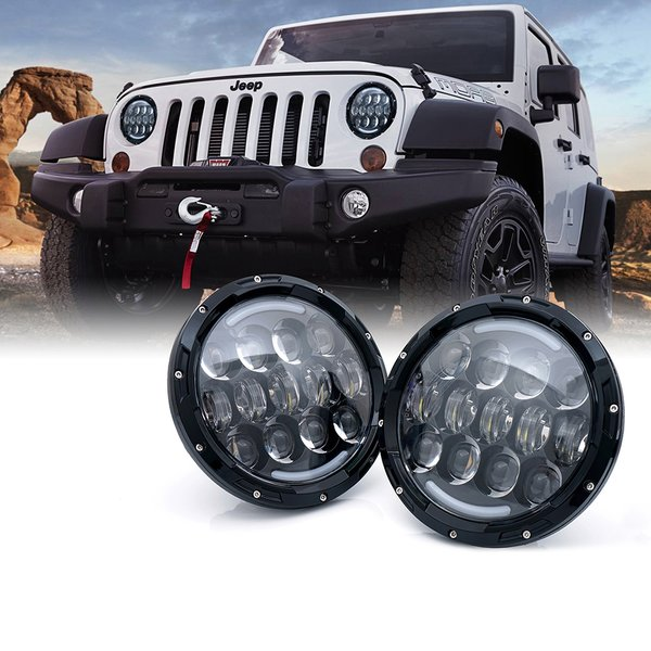 "Xprite 7"" G6 CREE LED Headlights With DRL For 1997-2017 Jeep Wrangler"