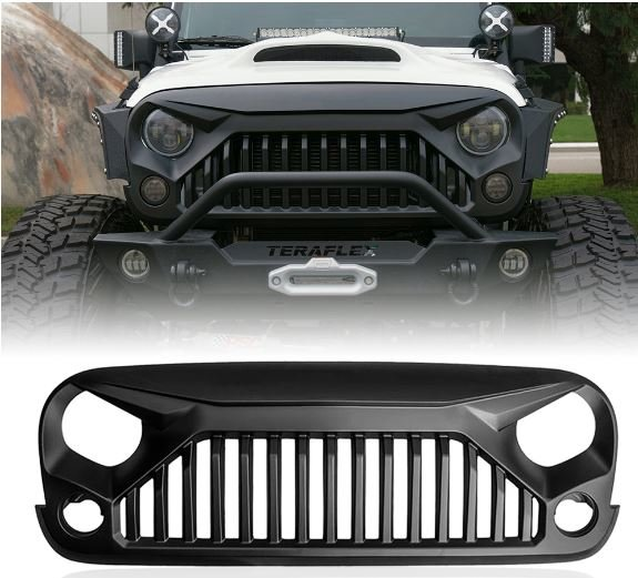 Gladiator Vader Front Matte Black Grille for 2007-2017 Jeep Wrangler