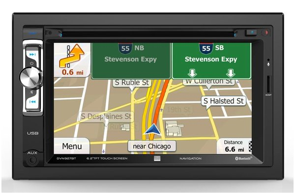 """Dual DVN927BT Bluetooth In-Dash Navigation DVD/CD/AM/FM Jeep Stereo Receiver w/ 6.2"""" LCD Screen with Backup camera"""