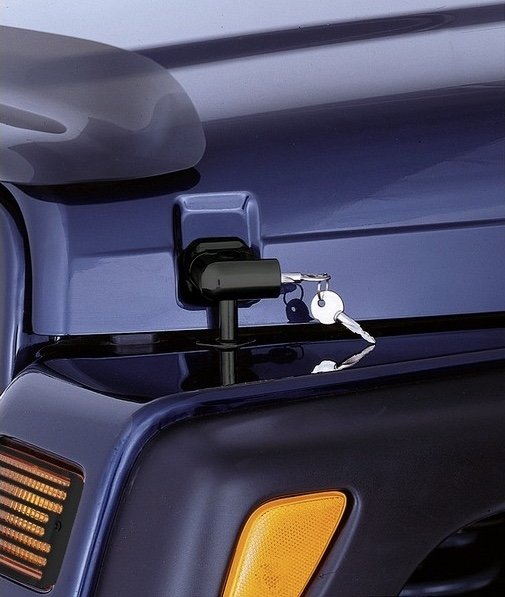 Rugged Ridge Locking Hood Catch Kit; 97-06 Jeep Wrangler TJ