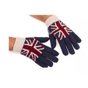 Union Jack Gloves with Grey
