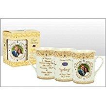 Royal Wedding Commemorative Gold Mug, gift boxed.