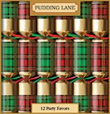 Tartan Crackers (12) Red and Green