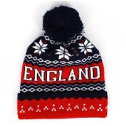England Ski Hat with pom pom