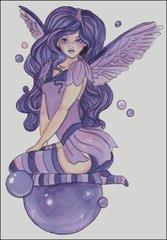 Violet Sprite with Bubbles