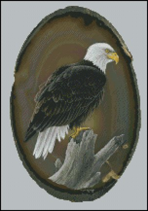 American Bald Eagle Counted Cross Stitch Pattern