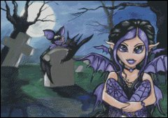Lil Gothic Moon Fairy
