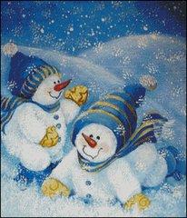 Snow Babies at Play