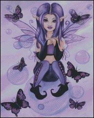 Purple Fairy with Bubbles