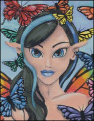 Fairy with Butterfly Friends