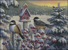 Winter Chickadees