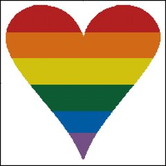 Gay Pride Heart