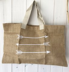 Jute Beach Bag- Arrows