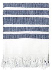 Pure Herringbone Turkish Towel- Navy