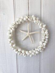 Clam Rose Shell Hanging w/ Starfish