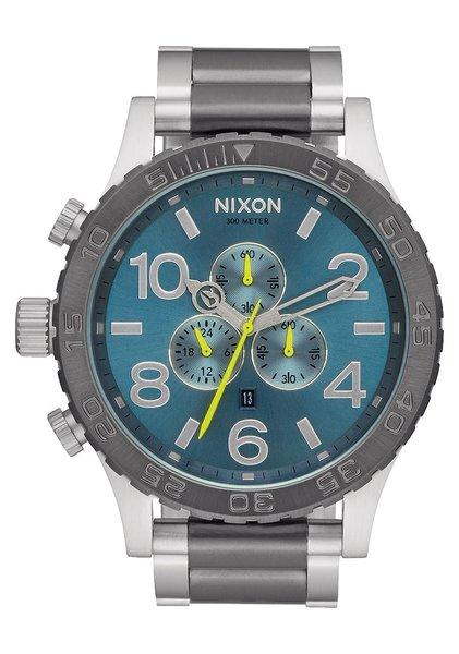 Nixon 51-30 Chrono 'Gunmetal / Aqua Sunray'