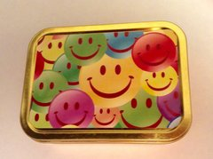 Multi smiley face 2oz tin