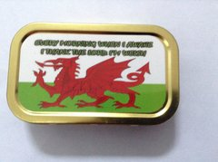 Welsh flag statement 1oz tin